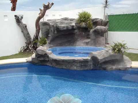 Cascada artificial toluca 1 youtube for Cascadas artificiales para piscinas