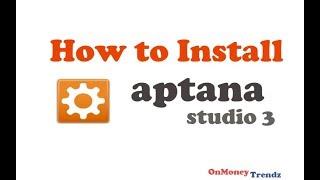 How to install Aptana studio 3   -  2015