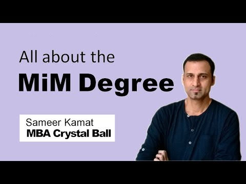 Master in Management (MiM) Degree