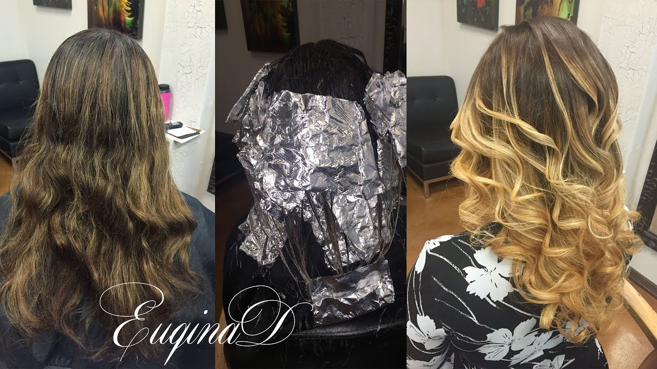 Dark Brown To Blonde Ombre Balayage Color Melt Youtube