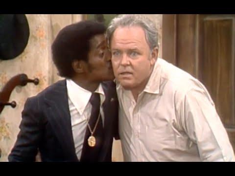 Sammy Davis Jr. Kisses Archie Bunker