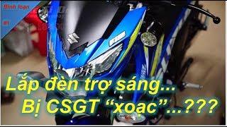 Lắp đèn trợ sáng bị CSGT bắt, đúng hay sai? | Winner 150 | Thanh TN Motovlog