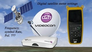 digital satellite meter settings for videocon d2h