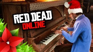CHRISTMAS MUSIC Playing In The Saloons | Red Dead Online