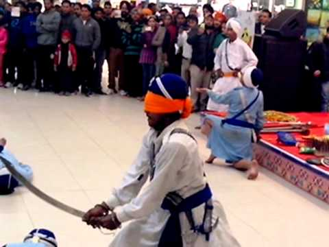 | Playing Gatka | Sikh Marshal Art | Real Loin | in Alpha One Amritsar | 26 - 01 -2014