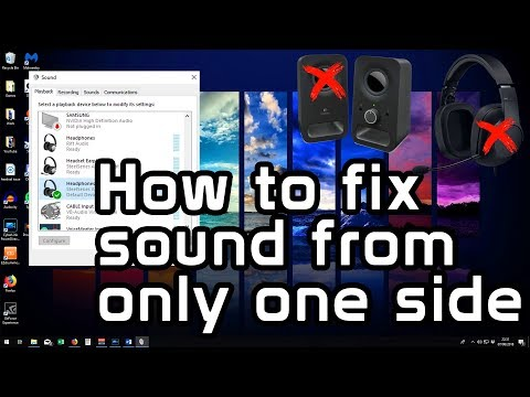 how-to-fix-sound-only-coming-from-one-side-of-headset-or-speakers