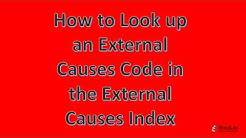2018 AMCI:  How to look up an ICD-10-CM External Causes of Morbidity Code