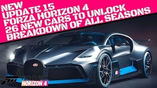 FORZA HOR ZON 4   UPDATE 15   ALL NEW CARS NEW FEATURES coming with 26 carsitems to unlock.