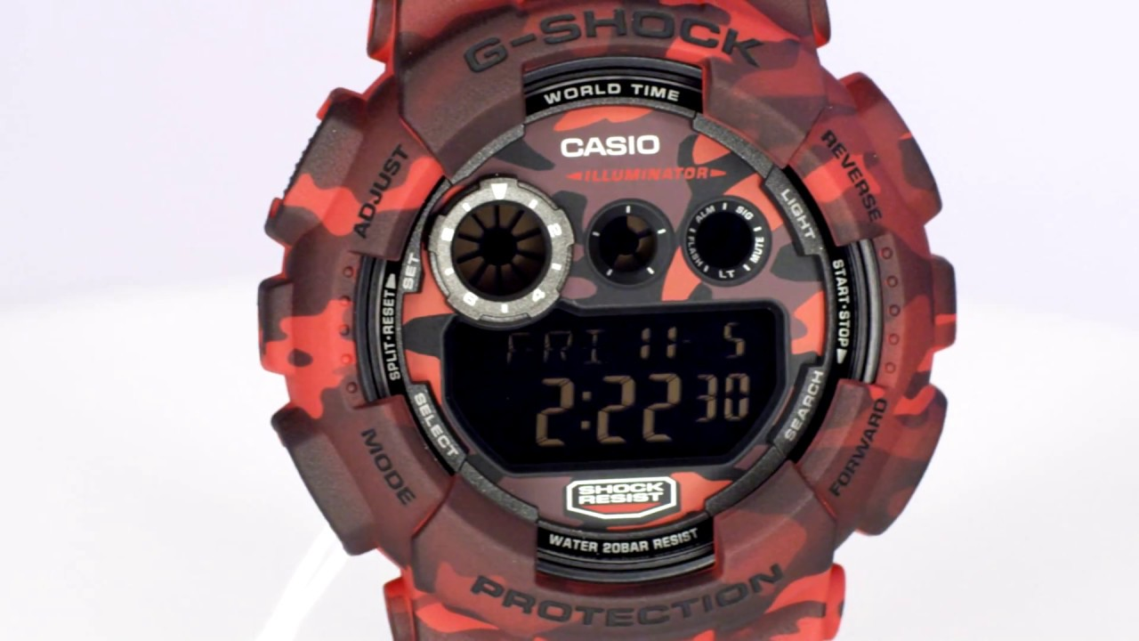 Casio G-Shock GD-120CM-4DR Watch Overview and Main Features - YouTube 891f7f240