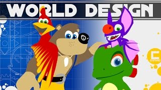 Comparing World Design and Gameplay of Yooka Laylee and Banjo Kazooie. Deconstructing Game Design.