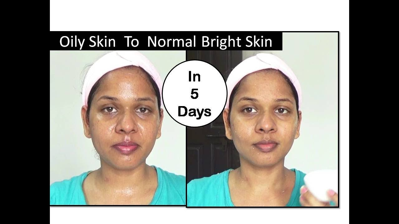 oily skin to normal skin