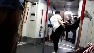 Hong Kong MTR Kung Fu showdown.