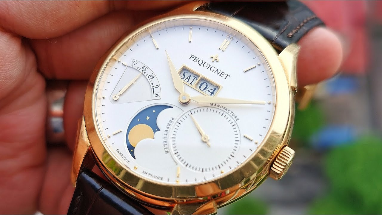 [Độc Đáo] Pequignet Rue Royale Moonphase Yellow Gold 9011438CG | ICS Authentic