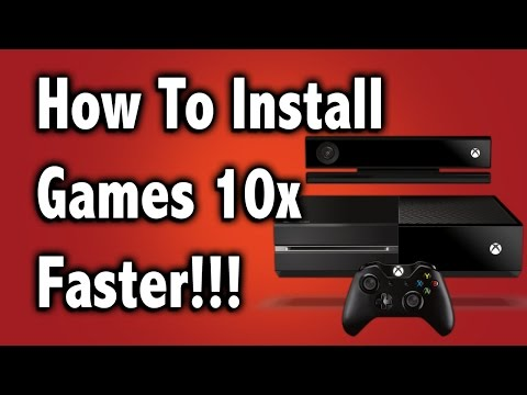 How to install games 10x Faster On the Xbox One (Disc Only)