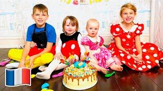 Cinq Enfants et Papa célèbrent l'anniversaire