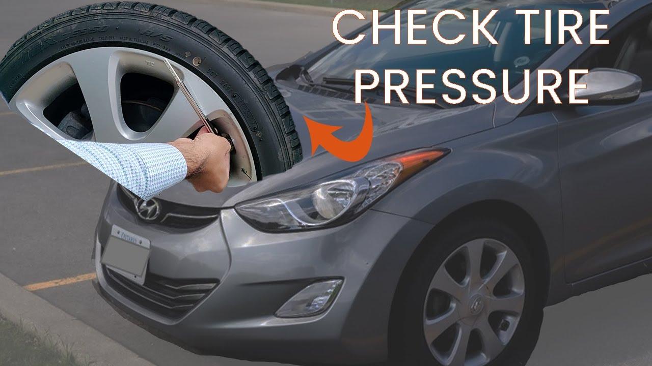 How To Check Tire Pressure Quick Hyundai Elantra