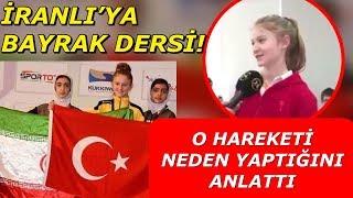 Türk Sporcu Selen Gündüz'den İranlıya Bayrak Hamlesi! - Tekvando #SelenGündüz