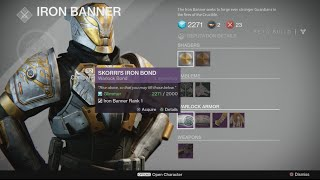 Destiny beta quot iron banner cloak armour weapons quot and more destiny
