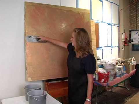 The Impasto A Metallic Paint Faux Finishing Technique