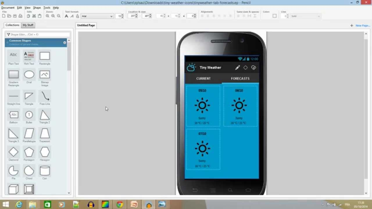 Android how to create a weather app part 1 design Blueprint creator app