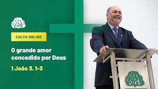 IPB Joinville - Culto - 01/11/2020 - O Grande Amor Concedido por Deus