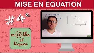vuclip Mettre un problème en équation - Quatrième