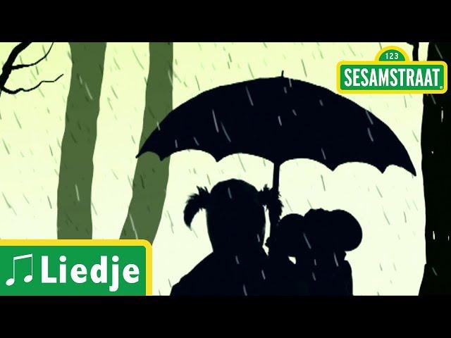 Onder moeders paraplu - Kinderliedje - Sesamstraat