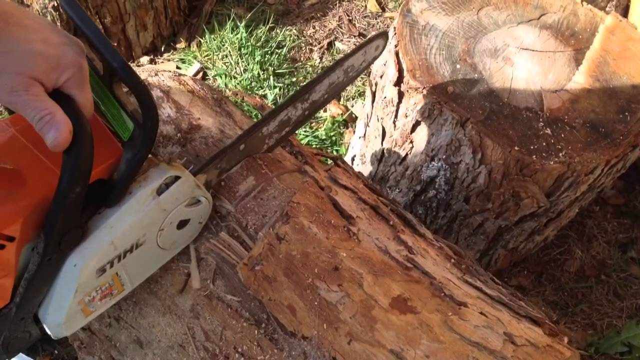 How you can tell if your chainsaw chain needs to be sharpened