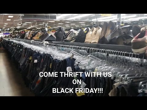 Come Thrifting With Us On Black Friday! + Haul