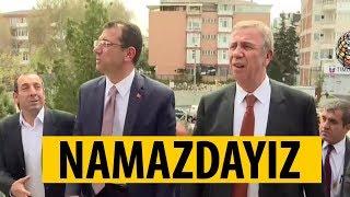 CHP'li Mansur Yavaş ve Ekrem İmamoğlu Cuma namazında!