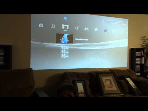 Projector projecting onto wall (no Screen)