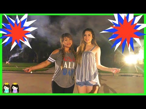 Playing with Fireworks Family Fun Night 4th of July with Princess ToysReview