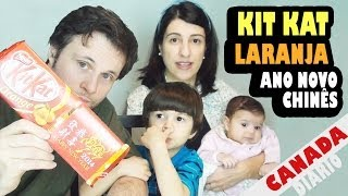 KIT KAT DE LARANJA - CHOCOLATE ESPECIAL COMEMORANDO O ANO NOVO CHINÊS