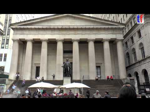 New York Stock Exchange & Federal Hall / Manhattan, Wall St, NY, USA,2014.