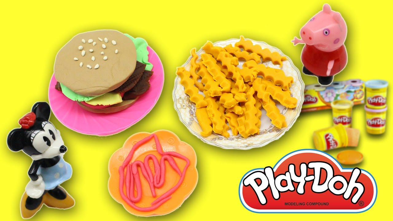play dough cooking play doh set humburger french fries kids fun toys youtube. Black Bedroom Furniture Sets. Home Design Ideas