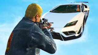 SNIPERS VS FLIPPING CARS! | GTAV Funny Moments