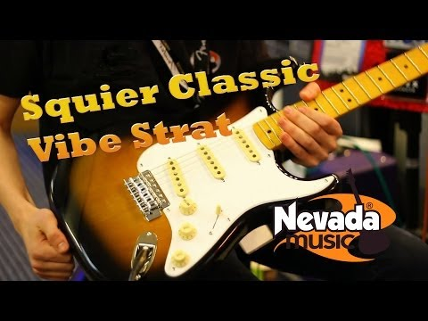 Squier Classic Vibe '50s Sunburst Strat Demo at PMTVUK
