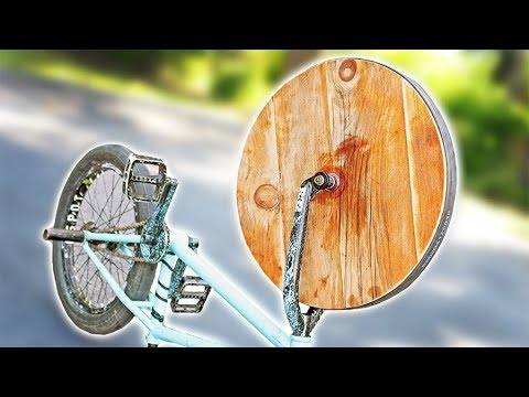 The WOODEN BMX Wheel!