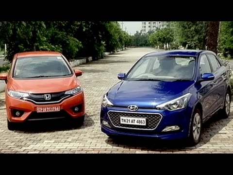 Honda Jazz vs Hyundai i20 - YouTube