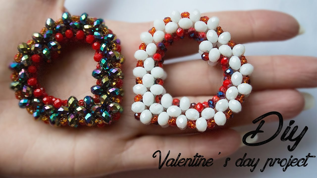 Diy Heart How To Make Beaded Heart Beads Craft Ideas Diy