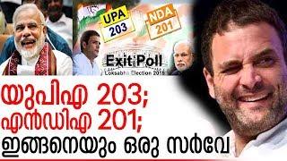 യുപിഎയും എന്ഡിഎയും ഇഞ്ചോടിഞ്ച്:  ഇങ്ങനെയും ഒരു സര്വേ ഫലം I exit poll 2019