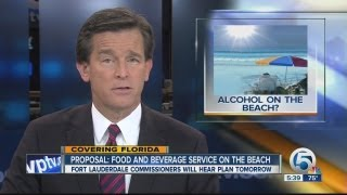 Proposal-food and beverage service on the beach