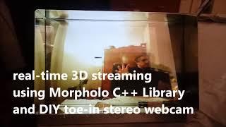 Baixar Streaming of live 3D video via Morpholo C++ Library