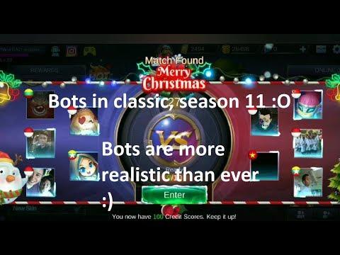 Mobile Legends bots in classic! Season 11!!!