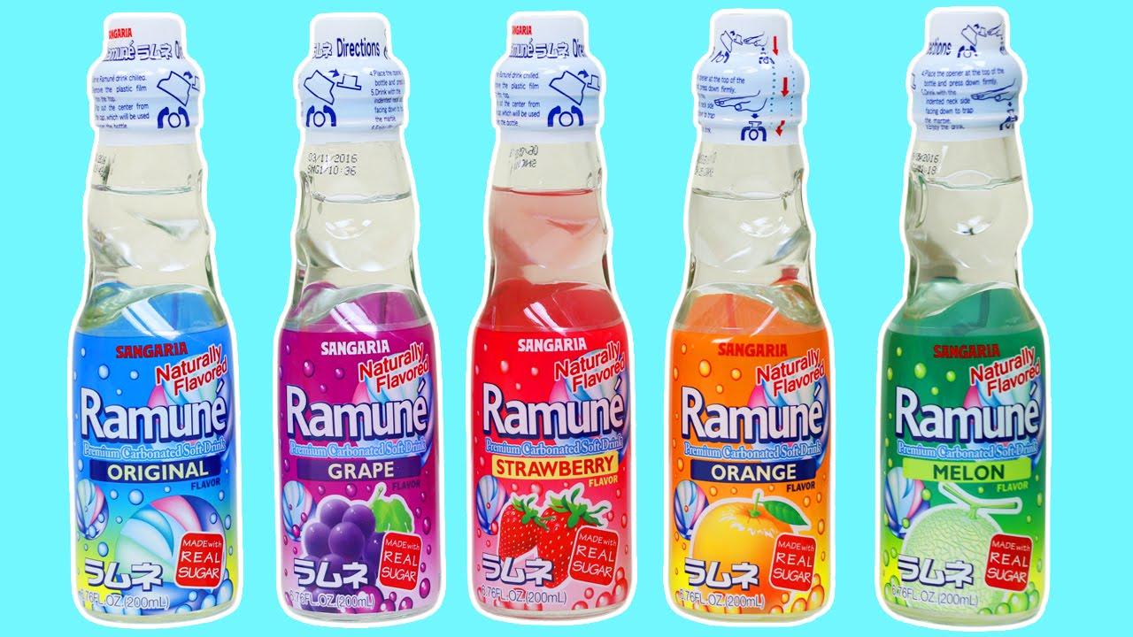 Sangaria Ramune Japanese Carbonated Soft Drink Taste Test ...