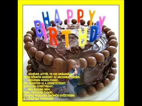 születésnapi köszöntő keresztfiamnak MA VAGYOK 1 ÉVES! BOLDOG SZÜLINAPOT DRÁGASÁG!   YouTube születésnapi köszöntő keresztfiamnak