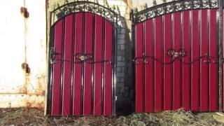 Бюджетный вариант ворота и калитка с ковкой и профлистом дуговые(, 2016-11-21T20:02:03.000Z)
