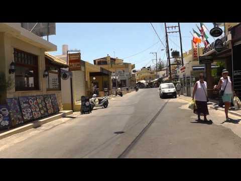 Beginn Und Verlauf Der Hauptstrasse Von Stalis Bis Hotel Alexander Beach