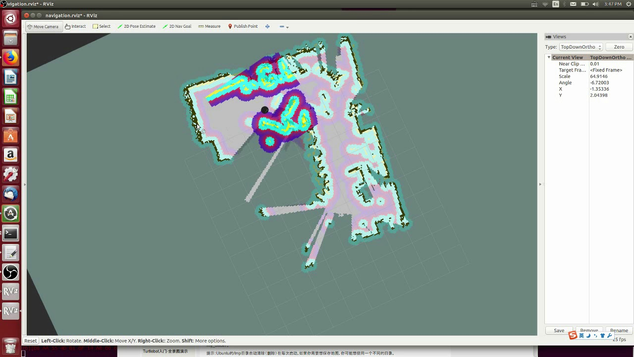 2-D mapping ROS/Gmapping/Ubuntu