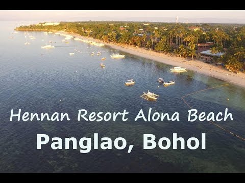 Alona Beach - Panglao, Bohol by drone (DJI Phantom 3 Standard)
